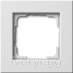 Cover frame 1-gang flat mounting Gira E22 pure white
