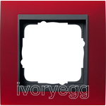 Cover frame, 1-gang for anthracite Gira Event Opaque red