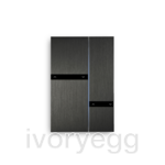 Fibonacci Quad KNX, brushed dark grey