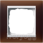 Cover frame, 1-gang for pure white Gira Event Opaque Dark brown