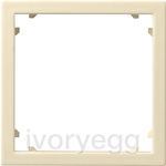 Adapter frame 45x45 square System 55 cream white