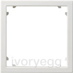 Adapter frame 45x45 square System 55 pure white matt