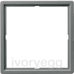 Adapter frame 50x50 square Gira E22 stainless steel(lacquered)