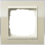 Cover frame, 1-gang for cream white Gira Event Clear sand