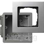 Installation kit 1-gang flat mounting DB Gira E22 Aluminium