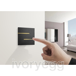 LUCIA - 2-WAY VERSION MULTITOUCH KNX BRONZE ANODISED
