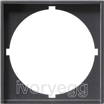 Adapter frame 50x50 round System 55 Anthracite