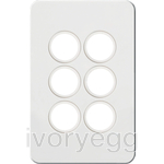 Silhouette Tactile Switch KNX 6Gang LED Matt WH