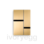 Fibonacci Quad KNX, brushed brass