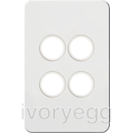 Silhouette Tactile Switch KNX 4Gang LED Matt WH
