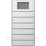 KNX touch sensor 3 Plus 6-gang (2+4) Gira F100 pure white