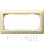 Cover Frame  2-gang w/o crossbar, Standard 55 cream white
