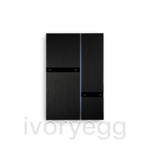 Fibonacci Quad KNX, brushed black