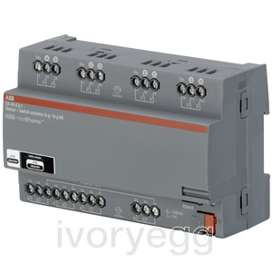 free@home Switch Actuator I/O, 8-fold, 6 A, MDRC