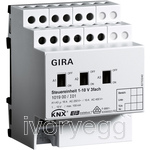 Control device  1-10V 3-gang, KNX