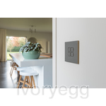 LOLA CARRÉ - KNX - 4 FLAT SQ P-B LEDS GREY ANODISED