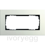 Cover frame 2g w/o cb Gira Esprit Linoleum-plywood light grey