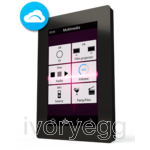 "VERSO 4.3"" KNX Touch panel with IP connectivity, Black"