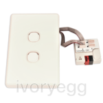IVORY EGG MC-013 MechConnect - 3 x KNX pushbutton incl. mech and frame