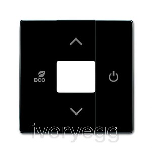 free@home Room Thermostat cover plate, black