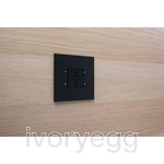 LOLA CARRÉ - KNX - 4 FLAT SQ P-B LEDS BRONZE ANODISED