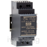 DIN Rail Power Supply - 24W 12V 2.0A - Ultra Slim