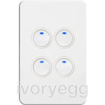 Silhouette Tactile Switch KNX 4Gang LED WH