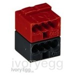 Connector for KNX applications Red/Black (Box of 50)