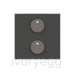 free@home Cover Plate for 1-gang sensors, anthracite