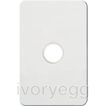 Silhouette Tactile Switch KNX 1Gang LED Matt WH
