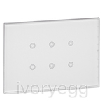 ARTEOR KNX 6G GLASS TOUCH PANEL FOR BATIBOX WALL BOX WHITE