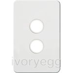 Silhouette Tactile Switch KNX 2Gang LED Matt WH